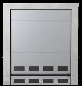 Brama przemysłowa segmentowa z kratkami wentylacyjnymi K-2
