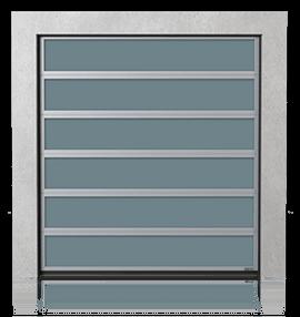 Brama przemysłowa segmentowa aluminiowa z przeszkleniami VISUAL