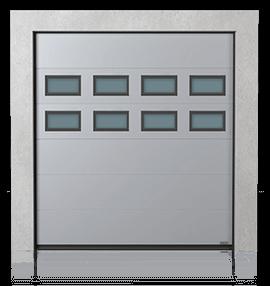 Brama przemysłowa segmentowa z okienkami B-2 x2
