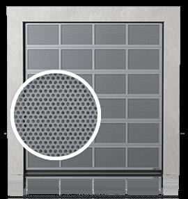 Brama przemysłowa segmentowa aluminiowa z panelami wentylowanymi (blacha perforowana)