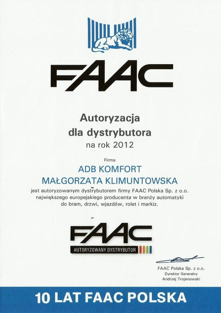 certyfikaty_2012_FAAC_i_GENIUS