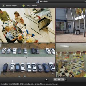 Monitoring kamery podglad na monitorze Dzierzowniów