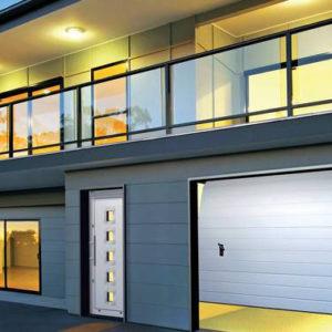 Drzwi Aluminiowe Wiśniowski Deco Basic z bramą garażową