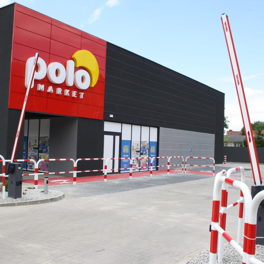 Instalacja dwóch szlabanów Polo Market – Kąty Wrocławskie
