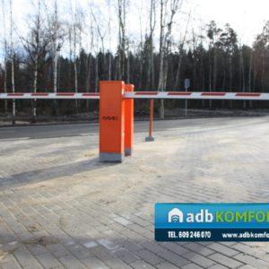 KGHM - szlabany parkingowe hydrauliczne FAAC RAPID, kontrola dostępu na karty zbliżeniowe, pętle indukcyjne_resize
