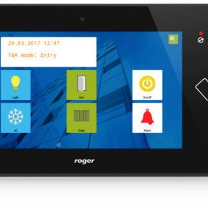 Kontrola dostępu KD i rejestracja czasu pracy RCP - MD70 graficzny panel dotykowy z czytnikiem MIFARE kamera wykonuje zdjecie pracownika