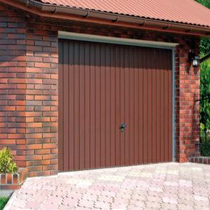 Brama garażowa uchylna, RAL 8014