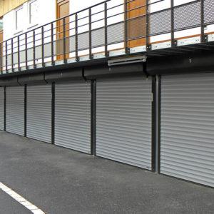 Brama garażowa roletowa zespłół