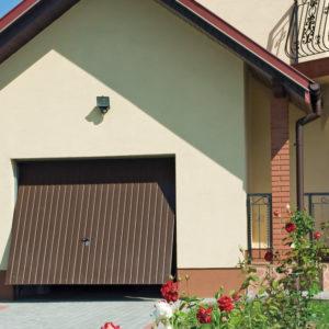 Brama garażowa uchylna przetłoczenie pionowe niskie
