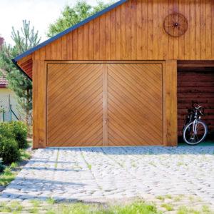 Brama garażowa uchylna złoty dąb wzór 7