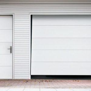 Drzwi garażowe wzor H z bramą uchylną