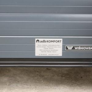 Montaż trzech bram przemysłowych rolowanych automatycznych Wiśniowski BR-100 RAL 7016 3